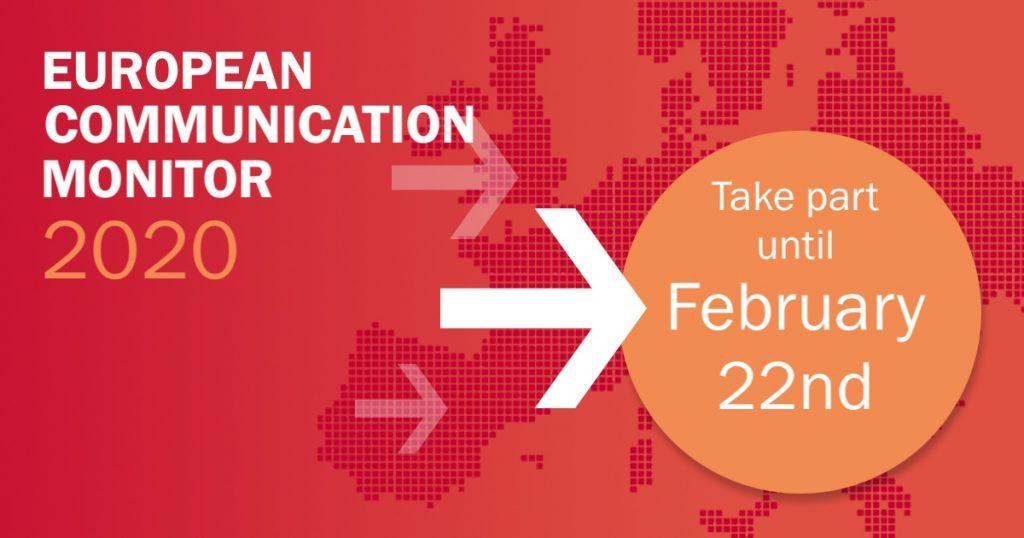 Participate in European Communications Monitor 2020