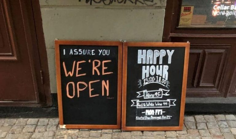 A Stockholm bar open during COVID19 crisis